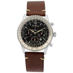 Breitling Navitimer Montbrillant Chronograph Steel Black Dial Men's Watch A41030