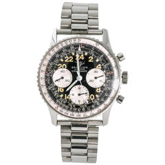 Breitling Navitimer No-Ref#, Black Dial, Certified and Warranty