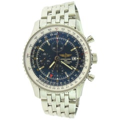 Breitling Navitimer World Steel Blue Dial A24322/C561 Watch 'O-3'