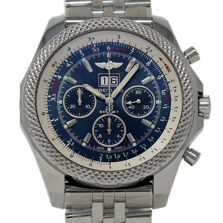 Breitling New Bentley Steel Blue A4436412/C786 Box/Paper