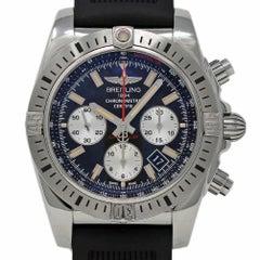 Neuer Breitling Chronomat 44 AB01154G/BD13 Schwarzer Kautschuk Stahl Box/Papiere/Garantie