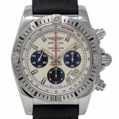 Neuer Breitling Chronomat 44 AB01154G/G786 Schwarz Kautschuk Stahl Box/Papiere/Garantie