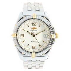 Breitling Stainless Steel & 18 Karat Yellow Gold Wings