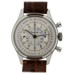 Breitling Stainless Steel Chronograph Doctors Pulsation Watch with Original Dial