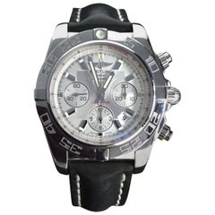 Breitling Stainless Steel Chronomat B01 Automatic Wristwatch with Silver Dial