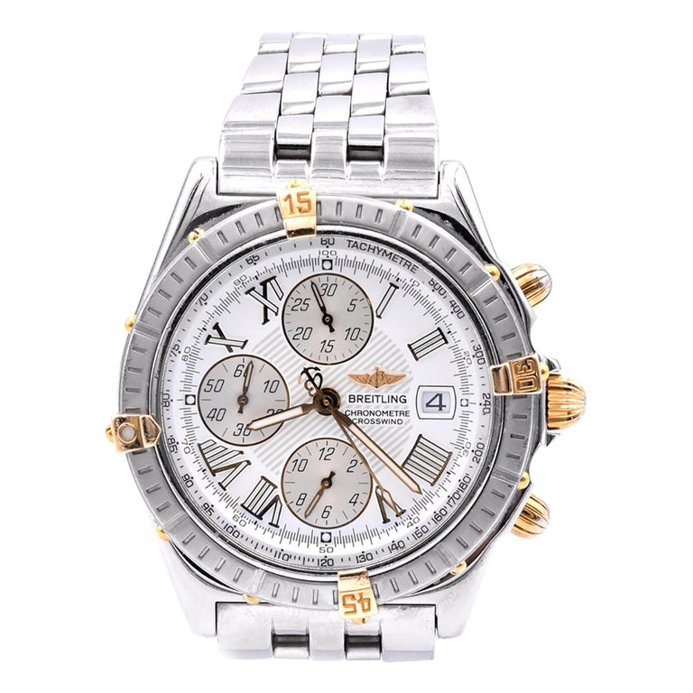Breitling Stainless Steel Crosswind Chronograph For Sale