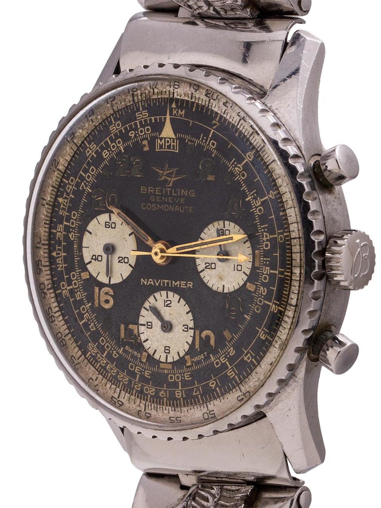 Breitling Stainless Steel Navitimer Cosmonaute Manual Wristwatch Ref 806 C 1965