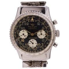 Breitling Stainless Steel Navitimer Cosmonaute Manual Wristwatch Ref 806, c 1965