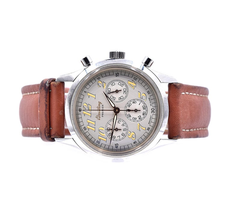 Breitling Stainless Steel Premier Chronograph In Excellent Condition In Scottsdale, AZ