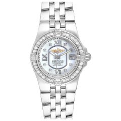 Breitling Starliner Mother of Pearl Diamond Ladies Watch A71340