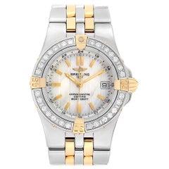 Breitling Starliner Steel Yellow Gold MOP Diamond Ladies Watch B71340