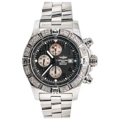 Breitling Super Avenger A13370, Black Dial, Certified and Warranty