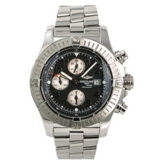 Breitling Super Avenger A13370 Men's Automatic Watch Chronograph Black Dial