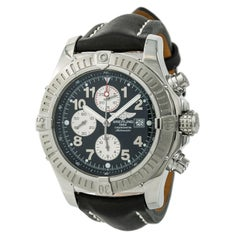 Breitling Super Avenger A13370 Men's Automatic Watch Chronograph SS