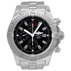 Breitling Super Avenger A13370, Silver Dial, Certified and Warranty