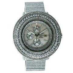 Breitling Super Avenger Black A13370 25.00 ctw Diamond Watch