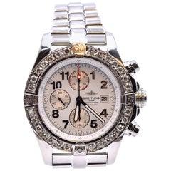 Breitling Super Avenger Custom Diamond Bezel Watch Ref. A13370