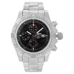 Breitling Super Avenger II Chrono Steel Black Dial Men Watch A13371111B2A1