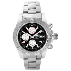 Breitling Super Avenger II Steel Black Dial Automatic Mens Watch A13371111B1A1