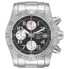 Breitling Super Avenger Tungsten Gray Dial Steel Men's Watch A13381