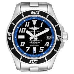 Breitling Superocean 42 Abyss Black Blue Dial Steel Men's Watch A17364