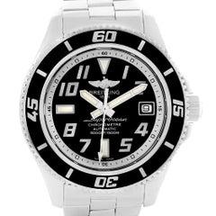 Breitling Superocean 42 Abyss Black Dial Steel Men's Watch A17364
