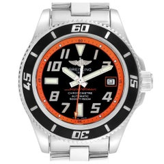 Breitling Superocean 42 Abyss Black Orange LE Men's Watch A17364 Box Papers