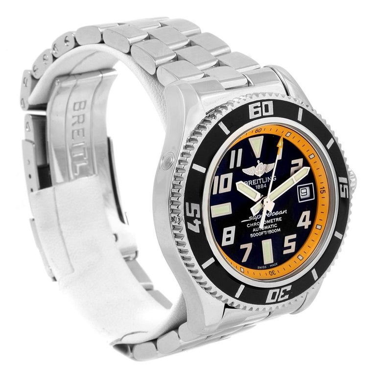 Breitling Superocean 42 Abyss Black Yellow Automatic Men's Watch A17364 For Sale 1