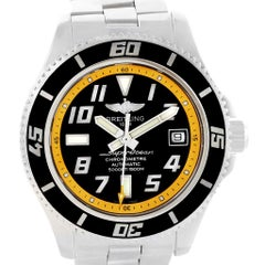 Breitling Superocean 42 Abyss Black Yellow Automatic Men's Watch A17364