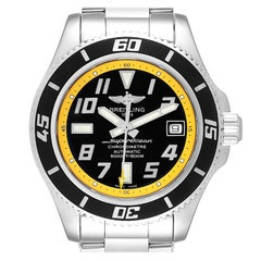 Breitling Superocean 42 Abyss Black Yellow Men's Watch A17364 Box Papers