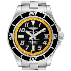 Breitling Superocean 42 Abyss Black Yellow Steel Men's Watch A17364