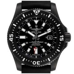 Breitling Superocean 44 Special Blacksteel Men's Watch M17393 Box Papers