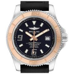 Breitling Superocean 44 Steel Rose Gold Men's Watch C17391 Box Papers