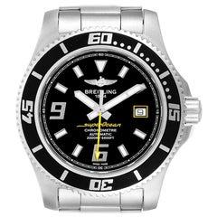Breitling Superocean 44 Yellow Hand Steel Men's Watch A17391 Box Papers