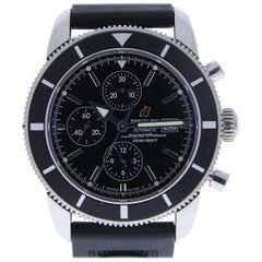 Breitling Superocean A13320 With 8.0 in. Band, Ceramic Bezel & Black Dial