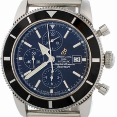 Breitling Superocean A13320 with Band and Black Dial Certified Pre-Owned