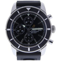 Breitling Superocean A13320 with Band, Ceramic Bezel and Black Dial