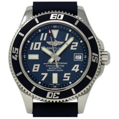 Breitling Superocean A17364, Blue Dial, Certified and Warranty