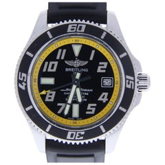 Breitling Superocean A17364 With 8.0 in. Band, Ceramic Bezel & Black Dial