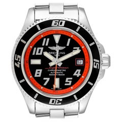 Breitling Superocean Abyss Orange Limited Edition Watch A17364 Box Papers