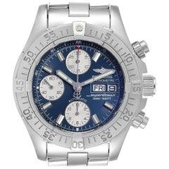 Breitling Superocean Blue Dial Steel Men's Watch A13340
