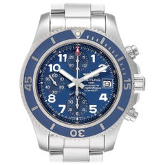 Breitling Superocean Chronograph Blue Dial Men's Watch A13311 Box Papers