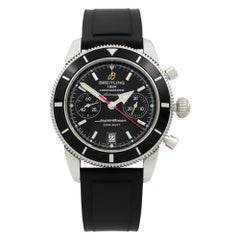 Breitling Superocean Chronograph Steel Black Dial Automatic Men's Watch A23370