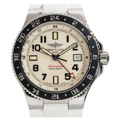 Breitling Superocean GMT Stainless Steel Silver Dial Watch