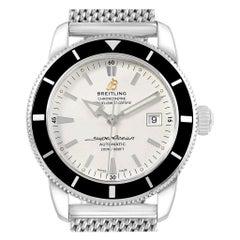 Breitling Superocean Heritage 42 Mesh Bracelet Steel Men's Watch A17321