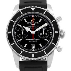 Breitling SuperOcean Heritage 44 Black Dial Rubber Strap Watch A23370