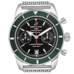 Breitling SuperOcean Heritage 44 Green Bezel Chronograph Watch A23370