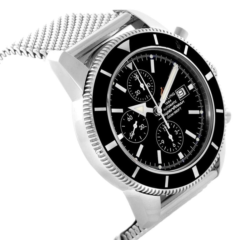Breitling Superocean Heritage Chrono 46 Men's Watch A13320 Box Papers In Excellent Condition For Sale In Atlanta, GA