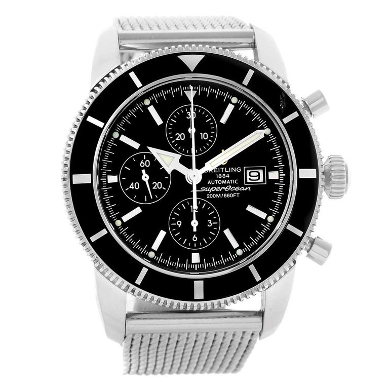 Breitling Superocean Heritage Chrono 46 Men's Watch A13320 Box Papers For Sale 2
