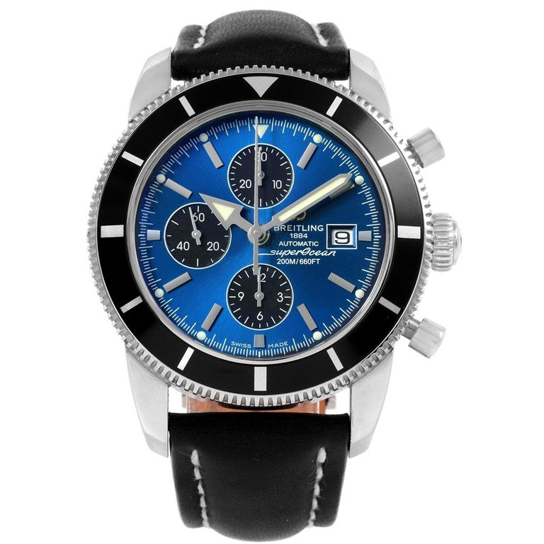 Breitling SuperOcean Heritage Chrono 46 Watch A13320 Box Papers In Excellent Condition For Sale In Atlanta, GA